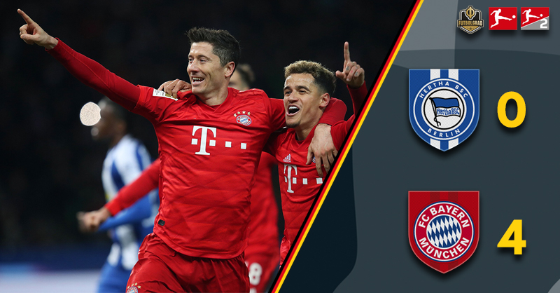 Bayern München blow Hertha away in a dominant second-half showing