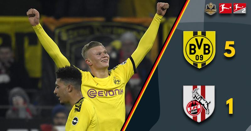 Jadon Sancho and Erling Braut Haaland power Borussia Dortmund past Köln