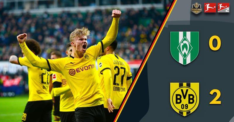 Erling Haaland leads Dortmund to victory over Werder Bremen