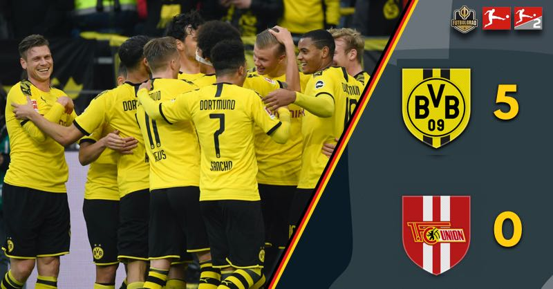 Erling Haaland and Dortmund write history in 5-0 win over Union Berlin