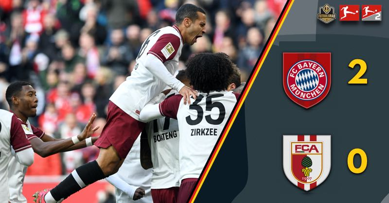Bayern Munich beat Augsburg 2-0 – Cement spot at the top of the table
