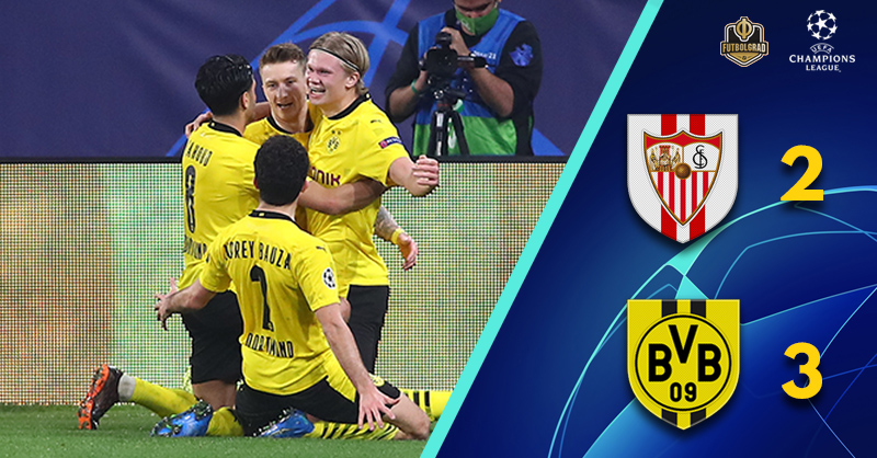 Erling Haaland powers Dortmund to victory at Sevilla